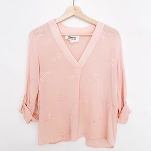 Alice Blue Pink Embroidered Blouse | Stitch Fix